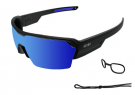 Race Matte Black With Revo Blue Lens